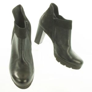 Paul Green Ankle Boots Heels Suede Trim